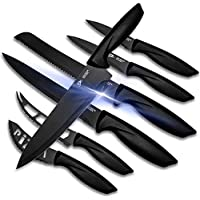 7-Pieces Lux Decor Collection Stainless Steel Kitchen Knives