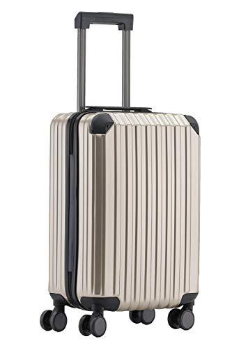 Münicase M816 TSA-Schloß Koffer Reisekoffer Trolley Kofferset Hardschale Boardcase Handgepäck (Champagner, Kleiner Koffer)