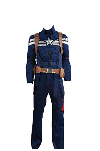Captain America 2 The Winter Soldier Steve Rogers Dark Blue Halloween Cosplay Costume