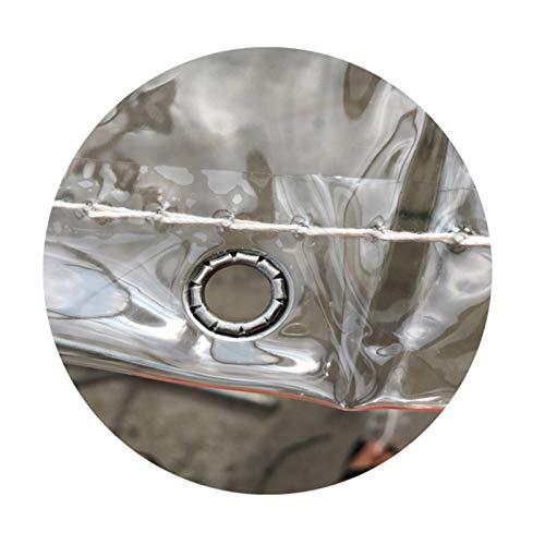YJFENG Lona Resistente, Cubierta De Dosel De Plantas, 0,3 Mm PVC Transparente Película Suave, A Prueba De Viento Mantener Caliente con Ojales para Techo Patio (Color : Claro, Size : 2.2X6M)