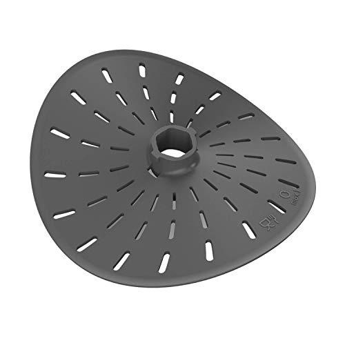 STERNEKOCH Messerabdeckung Für Thermomix TM6 TM5 TM31, Grau inkl. Rezeptbuch
