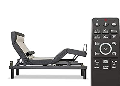 Sven & Son Queen Adjustable Bed Base Frame Platinum (Individual Head Tilt & Lumbar) USB Ports, Zero Gravity, Anti Snoring, Interactive Dual Massage (Adjustable Base Only, Queen)