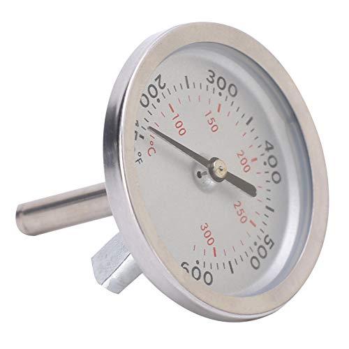 CUTULAMO Termómetro de Horno, adopta Material de Acero Inoxidable Premium Termómetro de Barbacoa de Alta precisión para Mostrar la Temperatura de los Alimentos