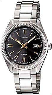Watch for Women by Casio, Analog, Stainless Steel, Silver, LTP-1302D-1A2V