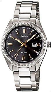 ساعة يد نسائية من كاسيو ، انالوج بعقارب ، ستانلس ستيل ، فضي ، LTP-1302D-1A2V