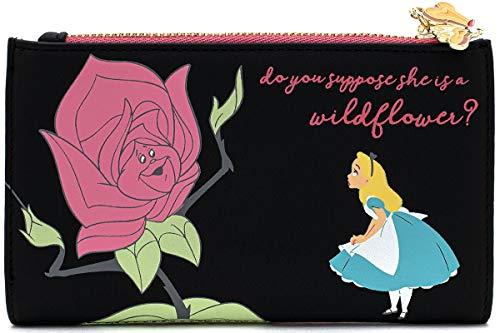 Loungefly x Disney Alice in Wonderland Flowers AOP Wallet (Multi, One Size)