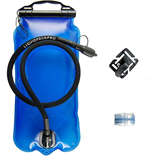 LIQUIDPACKPRO Hydration Bladder 3 Liter 100 OZ - Hiking, Running, Biking - Water Bladder Set for Hydration Backpack - Water Reservoir Kit, Insulated Hose, Spare Bite Valve and Rotatable Clip