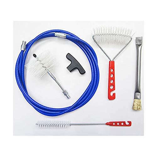 Kit 3 MT Meter + Bürsten Pellet 80 mm – Reinigung Pelletofen Rohr Ofenrohr. Kohlebürste und Ofenwände.