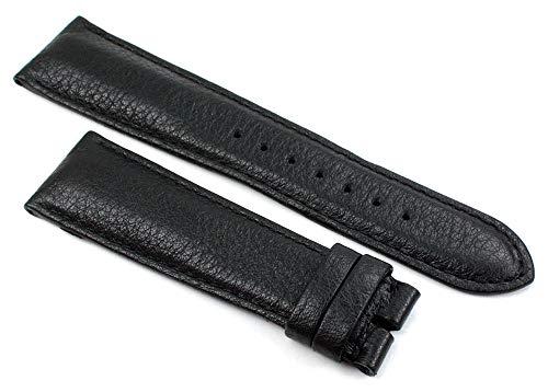 Chronoswiss 22mm ECHT Leder schwarz Uhrenband Hangemacht in Deutschland C1