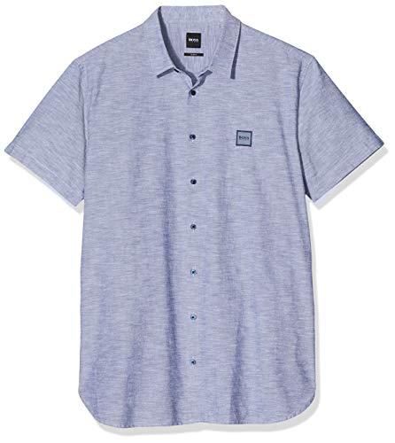 BOSS Herren Magneton_1-Short Freizeithemd, Blau (Dark Blue 404), Medium (Herstellergröße: M)