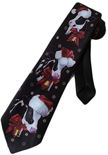 Men's Necktie by Ralph Marlin Christmas Cows