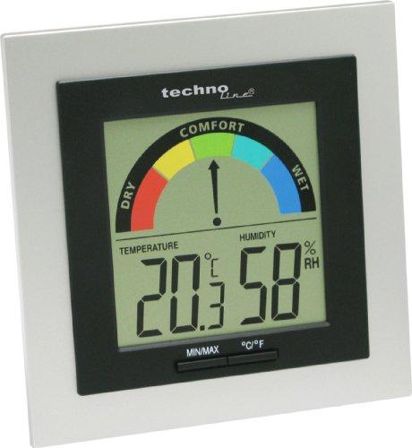 Technoline Temperaturstation WS 9430 mit Innentemperaturanzeige sowie Innenluftfeuchteanzeige und Raumkomfortanzeige
