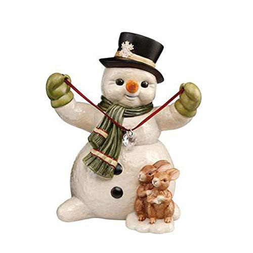 Goebel XM S Herzliche Wintergrüße Weihnachten Schneemänner Bunt Steingut 66703301