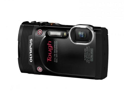 "Olympus TG-850 Tough - Cámara compacta acuática de 16 MP (Pantalla de 3"", Zoom óptico 5X, estabilizador Digital, vídeo Full HD), Negro"