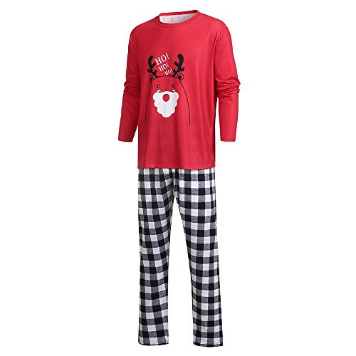 Jaysis Jaysis Weihnachten Eltern-Kind Familie Outfits Set, Mama & Ich & Daddy Cartoon Brief Deer Top + Hosen Familie Kleidung Pyjamas 2 STÜCKE