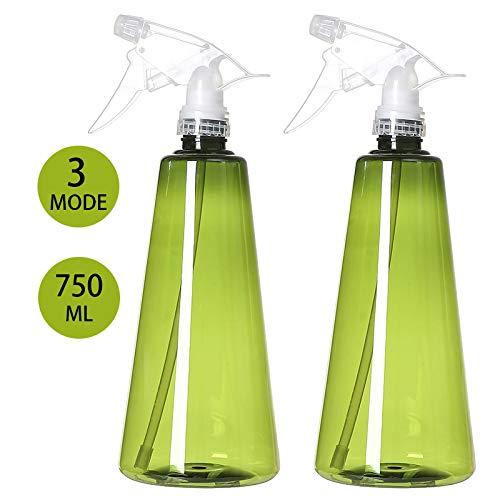 Queta Botellas de Spray Vacías Plástico, 2pcs Pulverizador Agua de Gatillo con...