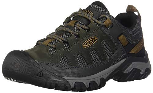 KEEN mens Targhee Vent Hiking Shoe, Raven/Bronze Brown, 9.5 US