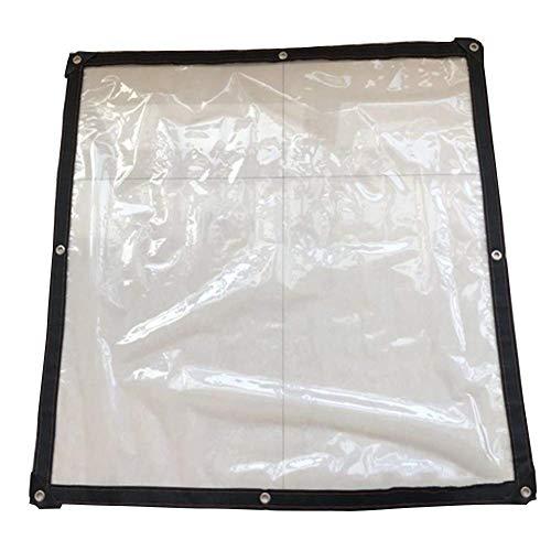 ETNLT-FCZ Tuinmeubelen afdekkingen doorzichtig dekzeil folie membraan waterdicht polyethyleen kunststof beschermhoes dikte 0,12 mm
