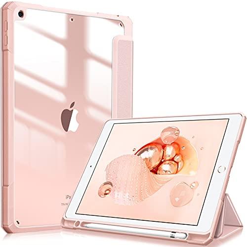 Fintie - Funda híbrida delgada para iPad de 8ª generación (2020) y 7ª generación (2019) de 10,2 pulgadas, soporte para lápiz...