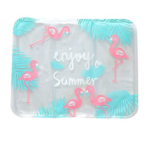 LIOOBO 1 STÜCK Nette Autositz EIS Pad Cartoon Faltbare Sommer Stuhl EIS Pad Wasser Tasche Kissen (Zufällige Farbe) Sommer Zubehör