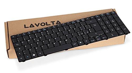 Lavolta Tastiera Italiano IT per Acer Aspire 5740G 5750G 5742G 5745DG 5738PZG 5739G 7540G Notebook PC Portatile - Nero