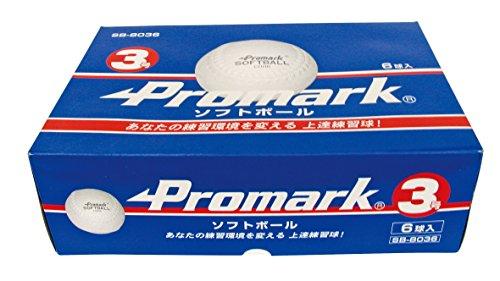 サクライ貿易(SAKURAI) Promark(プロマーク) 野球 ソフトボール 練習球 3号球 6個入り SB-8036