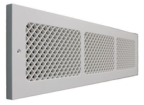 SMI Ventilation Products EBB630 Cold Air Return - 6 in x 30 in Essex Style Base Board - Overall Dimensions 8 in x 32 in