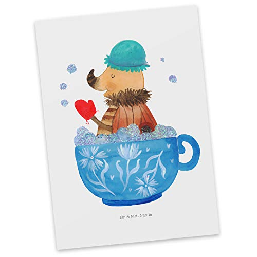 Mr. & Mrs. Panda kaart, cadeaubon, Ansichtkaart Moth Foam Bath - Kleur Wit