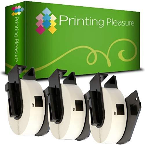 3 x DK11204 Etiketten kompatibel für Brother P-Touch QL-500 QL-570 QL-700 QL-720NW QL-800 QL-810W QL-820NWB QL-1100 QL-1110NWB | 17mm x 54mm | 400 Stück | Mehrzweck-Etiketten | Absender-Etiketten