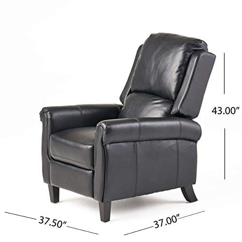 Christophe Knight Home Lloyd Black Leather Recliner