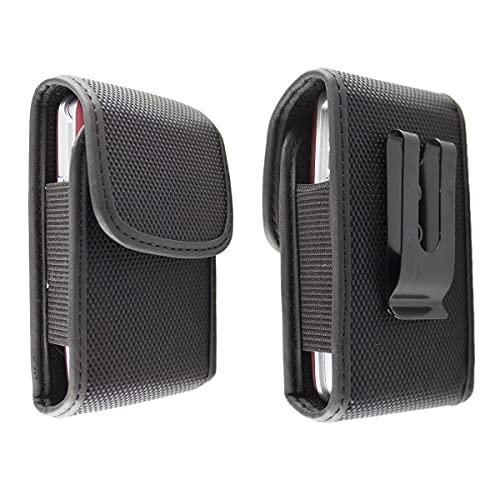 caseroxx Nylon Tasche mit Gürtelclip für Ihr Olympia Handy, passend für Brava Plus, Luna, Classic Mini, Classic Mini 2, Janus, Mira, Primus, Style Plus in schwarz