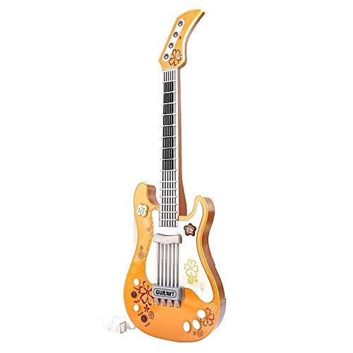 Dirgee Kindergitarre for Mädchen Jungs, Kinder Spielzeuggitarre, Orange Gitarre Musikinstrumente Geburtstagsgeschenk Party Favor for Kinder (Farbe: Orange) (Color : Orange)