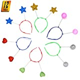Skeleteen Glitter Antenna Head Boppers - Rainbow Shapes Novelty Headbands - 12 Pieces