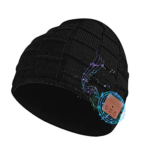 Wireless Beanie Hat Wireless Beanie Removable Headphone Cap Suitable for Teenagers Men & Women,Unisex Gifts,Birthday Gifts