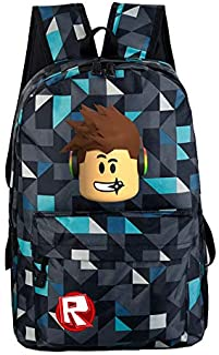 Fashion Plaid Cartoon Pattern Teenagers Kids Boys Girls Roblox Game Oxford Backpack Student Schoolbag Bookbag Casual Satchel Travel Shoulder Bag