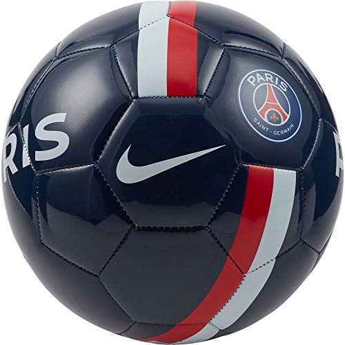Nike Unisex-Adult PSG Supporters Soccer Ball, Midnight Navy/University red/Gold, 5