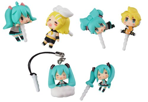 Character Vocal Series 01 Hatsune Miku 02 Kagamine Rin Len Character Vocal Series earphone jack accessories (non-scale 3.5mm earphone jack compatible) (8 pcs BOX) (japan import) by Good Smile Company by Good Smile
