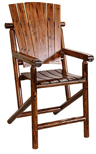 Leigh Country Bar Arm Chair with Star, Solid Back