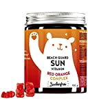 BEARS WITH BENEFITS® Beach Guard Sun Vitamins Ositos De Goma Con Complejo De Naranja Roja - Altamente Dosificado Con Vitamina E, Vitamina C Y Antioxidantes (60 ositos)