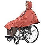 YIQIFEI Poncho Impermeable Use un Sombrero para sillas de Ruedas, Capa sin Mangas para Silla de Ruedas, Capa para Lluvia con Capucha, Tiras Reflectantes, fácil de Usar R (Silla)