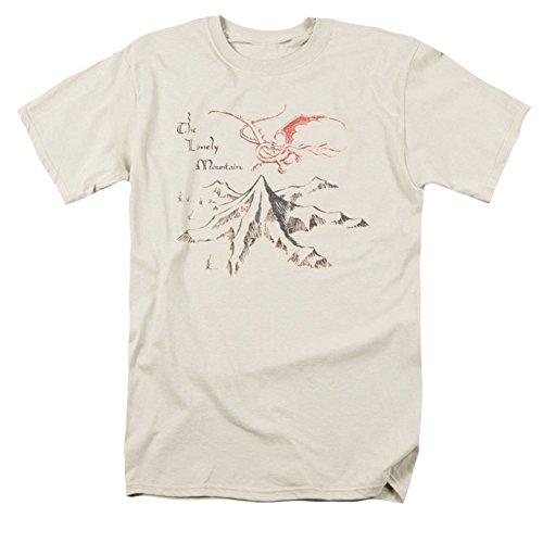 The Hobbit - Hombre Montaña Solitaria T-Shirt En Crema, Small, Cream