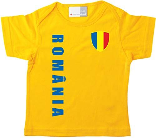 aprom Rumänien Baby T-Shirt - Trikot - WM EM No.1 GE ROM (56/62)