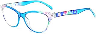 TT WARE Unisex Ultra-Light PC Full Frame Glasses Reading Glasses HD Resin Eyeglasses-Blue-3.0