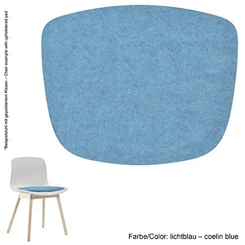 Feltd. Eco Filz Auflage 4mm Simple - geeignet für HAY - About a Chair - AAC 08-18 // - 29 Farben inkl. Antirutschunterlage (lichtblau)