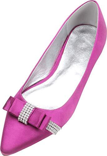 Zapatos planos de ballet de las señoras con nudo del dedo del...