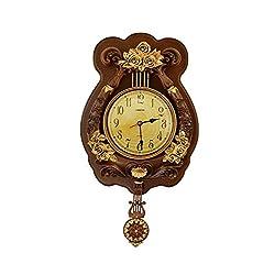ThreeStar Vintage Wall Clock with Pendulum