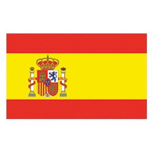 Flaggenking Spanien mit Wappen Format: 150 x 90 cm-wetterfest Flagge Fahne, Mehrfarbig, 150 x 90 x 1 cm