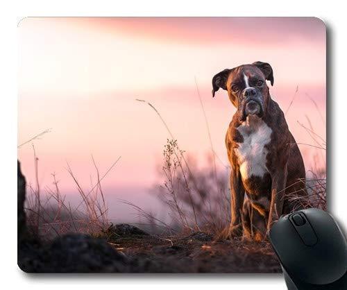 Yanteng Tappetini per Mouse da Gioco, Animal Bull Terrier Cani, Cuciture di precisione, Tappetino per Mouse Resistente