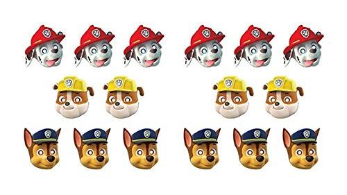 0556, pak 12 maskers Paw Patrol, Paw patrol, voor feesten en verjaardagen