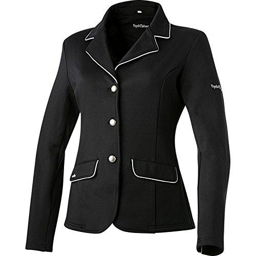 Equi-Theme/Equit'M Unisex's 988481238 Soft Classic Competition Jacke, schwarz/grau Paspelierung, One Size, 988481238